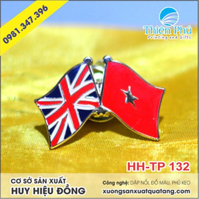 huy hiệu cờ nước anh - việt nam