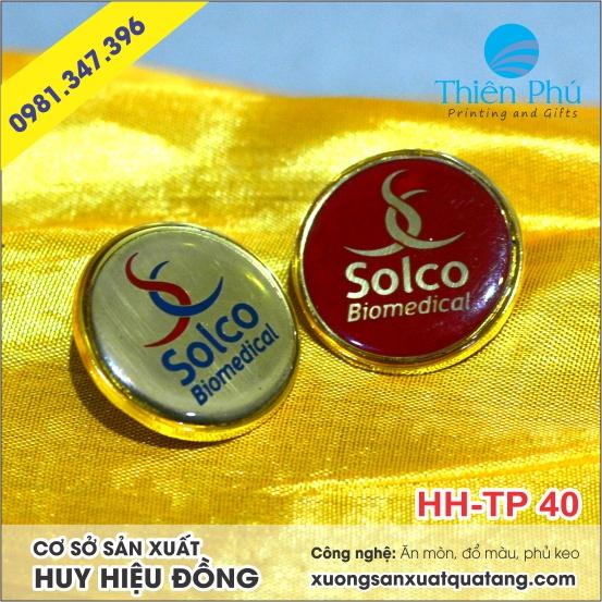 Huy hiệu đồng ăn mòn Solco